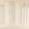 Iron railings, from Thame Church, Oxfordshire, and from the Cloisters of Bristol Cathedral.