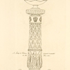 A Lamp & column designed & executed in the year, 1800.