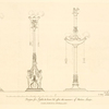 Designs for lights to burn oil, after the manner of Italian lamps.