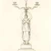 A Branch light, designed & executed in bronze, at Rome, in the year, 1796.