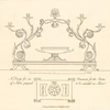 A Design for an ornament, for the centre of a table, proposed to be  executed in silver.
