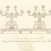 A Design for branch lights, for the centre of a table, proposed to be executed in silver.