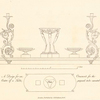 A Design for an ornament, for the centre of a table, with a branch light, proposed to be executed in silver.