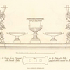 A Design for an ornament, for the centre of a table, with branch lights, proposed to be executed in silver.