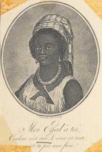Moi Egal à toi; [Portrait of a young Haitian woman.]
