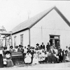 Wiley Homer, his people and Chapel at Grant, 1904.