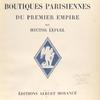 Boutiques parisiennes du Premier Empire