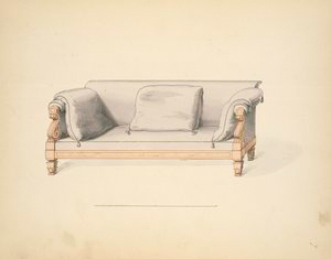 [Drawing room sofa.]
