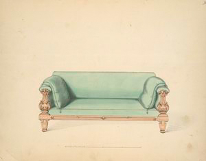 [Sofa, made by Joseph Barry in 1839 in the old French style.]