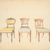 [Drawing room chairs, with stuffed backs.]
