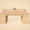[Sideboard, with the chief part of the back intended for veneer.]
