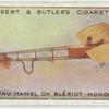 Mr. Gustav Hamel on a Bierlot Monoplane.