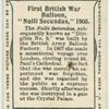 """First British war balloon, """"Nulli Secundus,"""" 1905."""