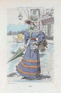1827 [Women's fashion in nineteenth-century Paris]