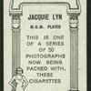 Jacquie Lyn.