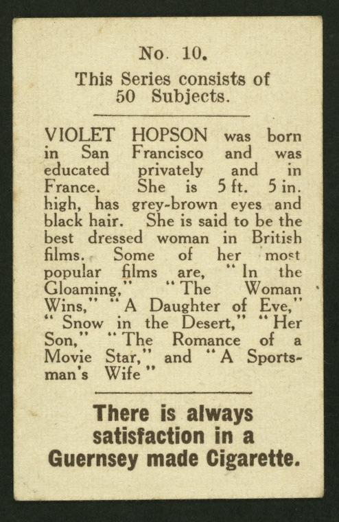Violet Hopson.