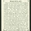 Macaulay.