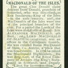 MacDonald of the Isles & of Sleat.