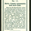 Herts, County Automobile and Aero club.