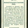 Oxford University Lacross Club.