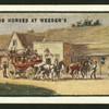 Changing horses at Weeden's.