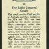 Light concord coach.
