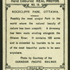 Rockcliffe Park, Ottawa.
