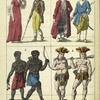 Les Hommes: 1. Européens. 2. Asiatiques. 3. Africains. 4. Américains.
