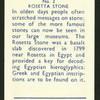 Rosetta stone.