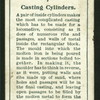 Casting cylinders.