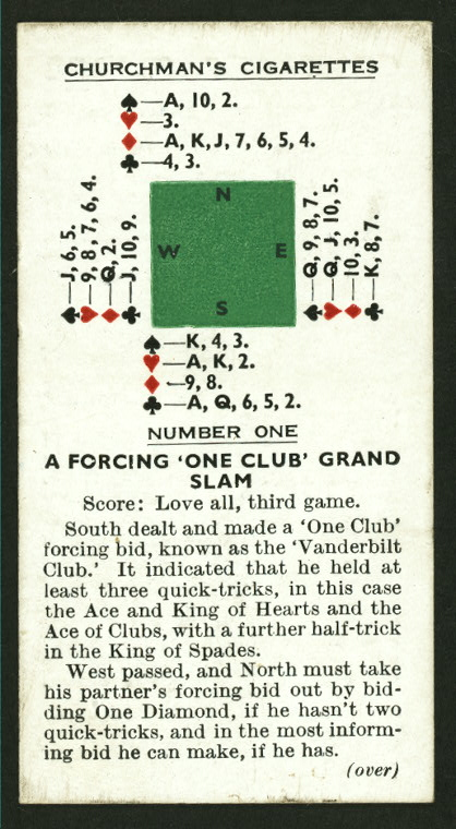 A forcing one club grand slam.