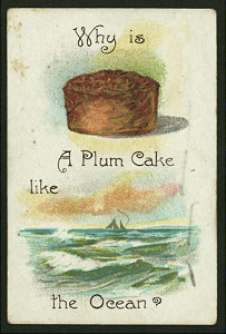 Why is a plum cake like the ocean?