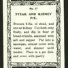 Steak & kidney pie.
