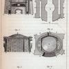 Explication des figures qui représentent le fourneau dans lequel j' [Buffon] ai fait courber de glaces pour faire des miroirs ardents de différentes espèces. Fig. 1-6.