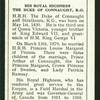 His Royal Highness the Duke of Connaught, K.G.