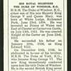 His Royal Highness the Duke of Windsor, K.G.
