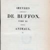 [Half Title page, v. 11] Œuvres complètes de Buffon. Tome XI. Végétaux. Animaux. (2)