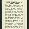 Earl Marshal of England.
