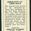 Sargeants-at-Arms Mace.