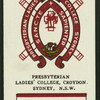 Presbyterian Ladies' College, Croydon.