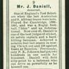 Mr. J. Daniell.