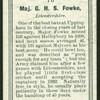 Major G.H.S. Fowke.