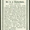 Mr. A.J. Richardson.