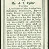 Mr. J.S. Ryder.