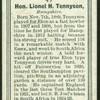 Hon. L.H. Tennyson.