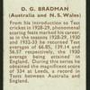 D.G. Bradman.