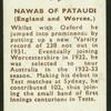 Nawab of Pataudi.