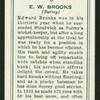E.W. Brooks.