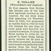 E. Hollies.