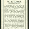 W. E. Astill (Leicestershire).